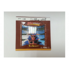 1.56 полимерные фотохромные линзы(коричневые). Остаточный рефлекс - зеленый. 70mm от -6.50 до -8.00