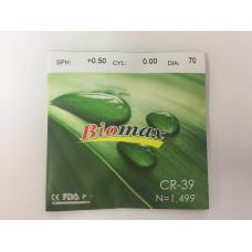 Линзы CR-39  Biomax +/-4.25 /+/-6.00 (70 mm)