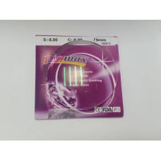 1.61 Асферические полимерные  линзы,остаточный рефлекс- зеленый  75mm (от -0,00 до -6,00)