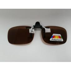 Поляризационные насадки на очки (коричневые-узкие)