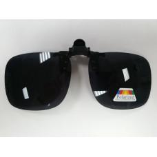 Поляризационные насадки на очки (Черный -Широкий) 1