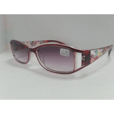 Готовые очки MOCT 2065 тонированные красные 52-18-131