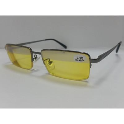 Очки корригирующие антифары с диоптриями Glodiatr 8003 54-16-140